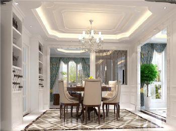219平米欧式古典四居设计图古典风格餐厅装修图片
