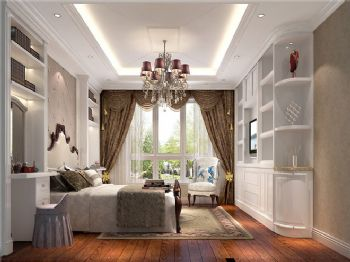 219平米欧式古典四居设计图古典风格卧室装修图片