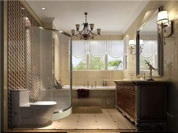 219平米欧式古典四居设计图古典风格卫生间装修图片