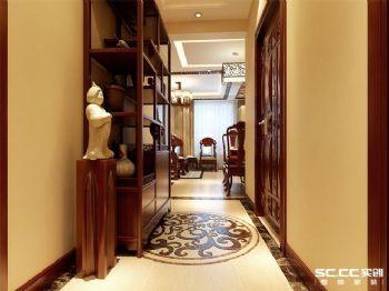 90平米中式二居設計圖中式風格過道裝修圖片