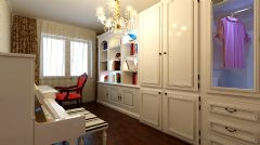 瑞南紫郡 简欧风格欧式风格书房装修图片