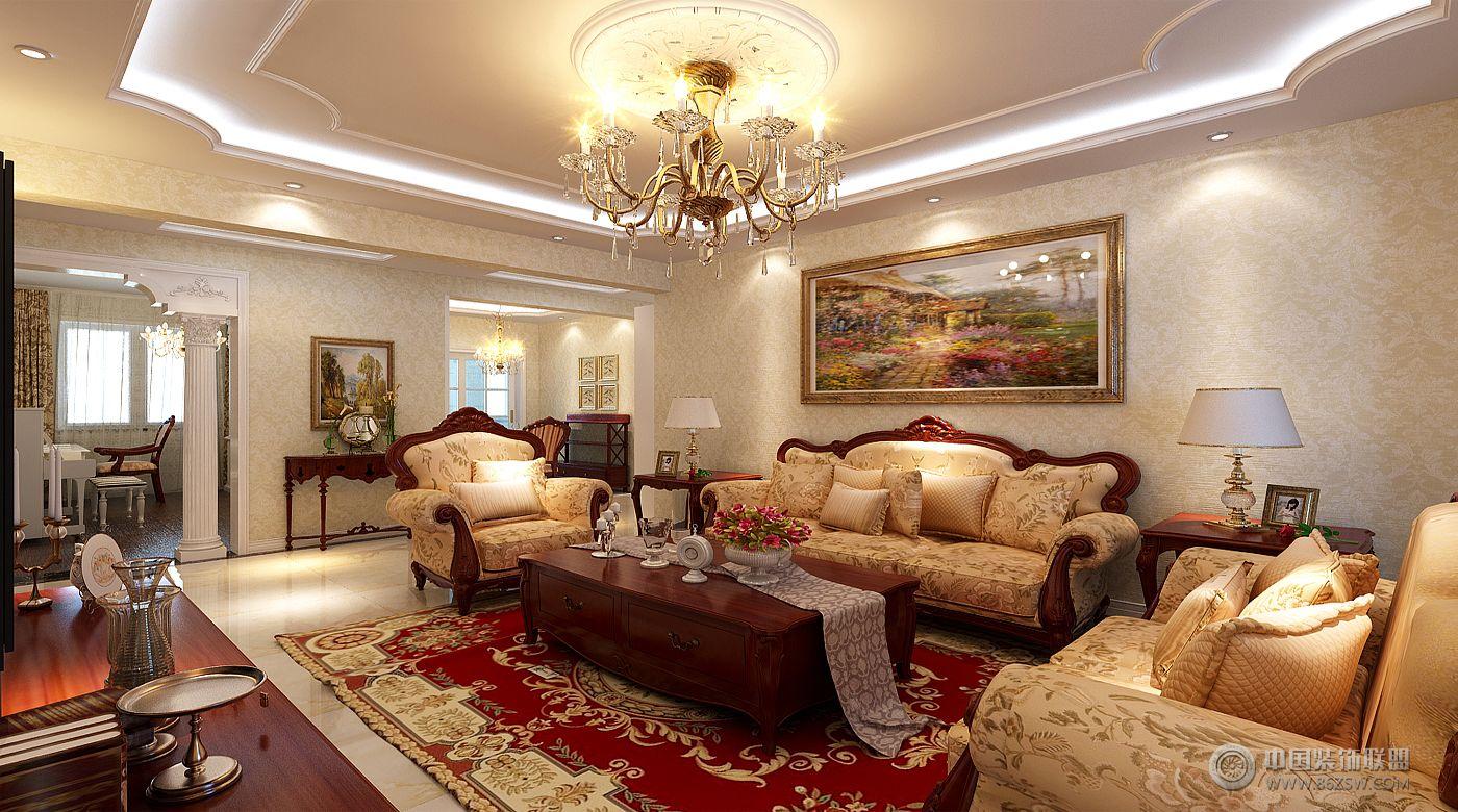 欧式风格客厅装修效果图图片