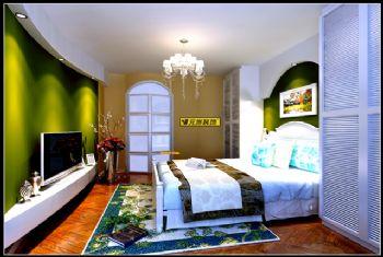 复式地中海风格设计案例地中海风格卧室装修图片