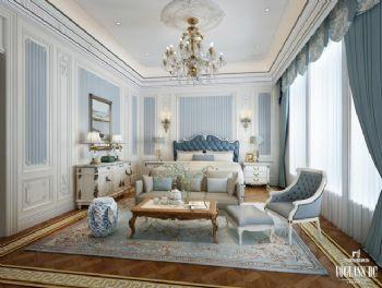 混搭别墅设计案例欣赏混搭风格卧室装修图片