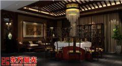 四合院设计效果图-中式古韵缭绕中式风格餐厅装修图片