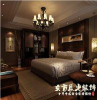 中式裝修-平房四合院設計圖中式風格臥室裝修圖片