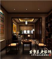 中式裝修-平房四合院設計圖中式風格客廳裝修圖片
