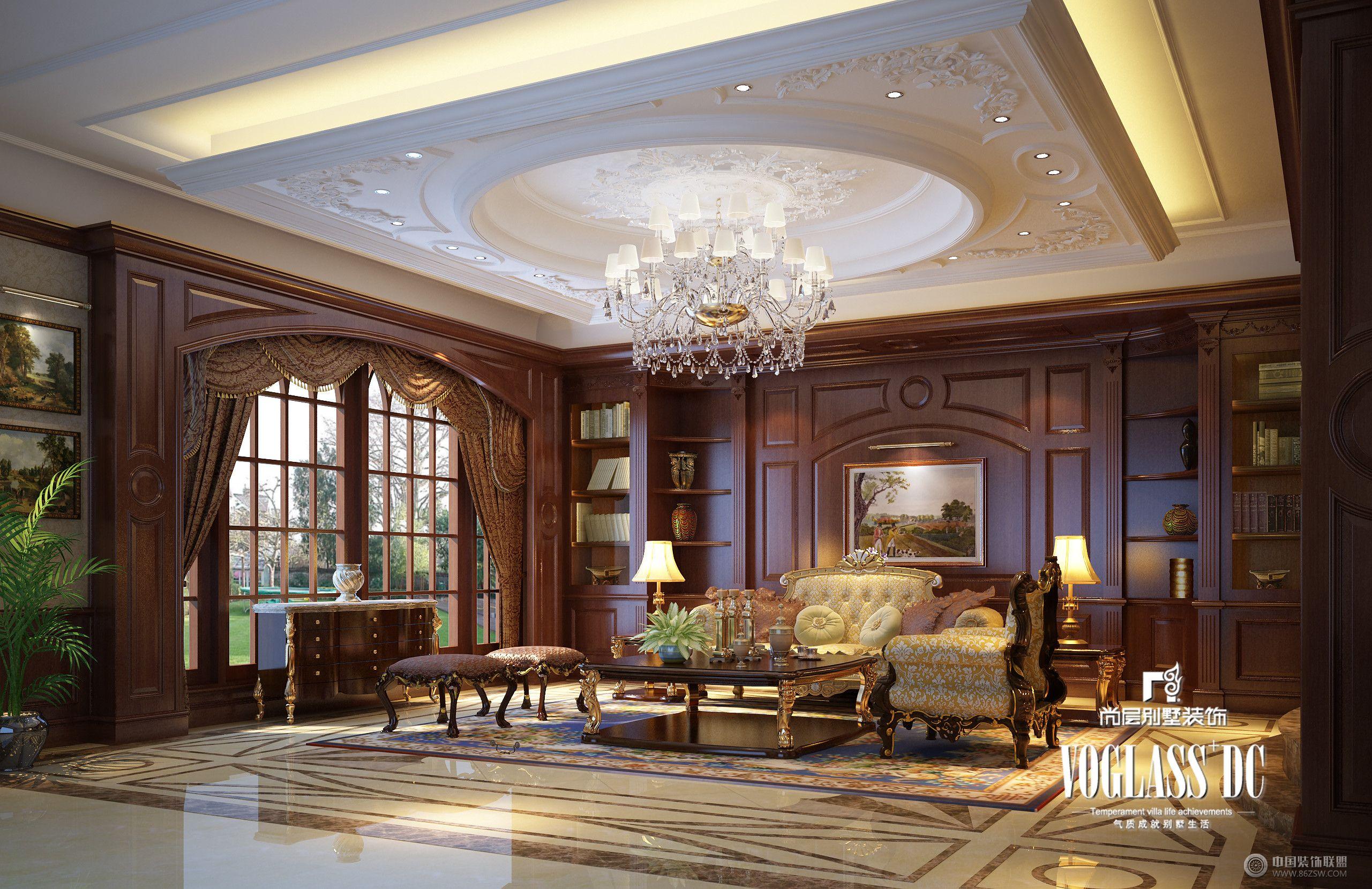 成都尚層裝飾別墅裝修暴力198別墅美式風格案例欣賞-玄關裝修圖片