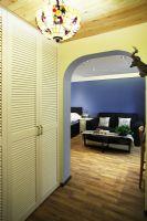 老北京遇上地中海-老房装修地中海风格客厅装修图片