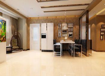 現代風格三居室裝修案例現代風格餐廳裝修圖片