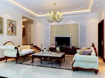北歐風格四居室裝修案例歐式風格客廳裝修圖片