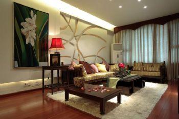 東南亞風格四居室裝修案例東南亞風格客廳裝修圖片