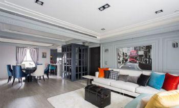 混搭式公寓设计案例混搭风格客厅装修图片