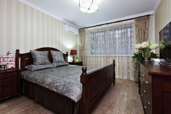 美式风格二居案例欣赏美式风格卧室装修图片
