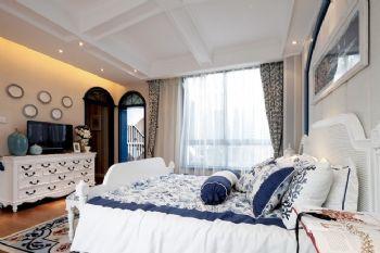 唯美地中海別墅設計案例地中海風格臥室裝修圖片