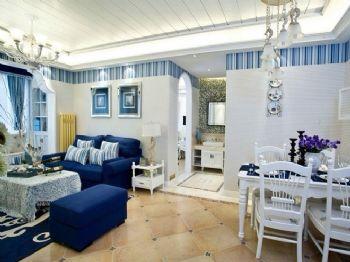 110平米地中海三居裝修案例地中海風格餐廳裝修圖片