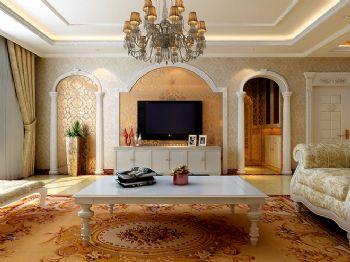 歐式古典三居設計圖歐式風格客廳裝修圖片