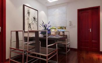 新中式風格三居設計案例中式風格餐廳裝修圖片