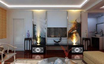 新中式風格三居設計案例中式風格客廳裝修圖片