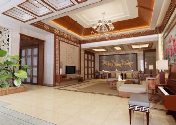 東南亞風格別墅設計案例東南亞風格客廳裝修圖片