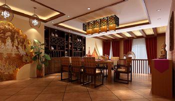 180平东南亚风格设计图片东南亚风格餐厅装修图片
