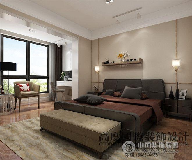 現代簡約風格公寓裝修案例臥室裝修圖片
