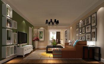 温馨实用家居设计案例简约风格客厅装修图片