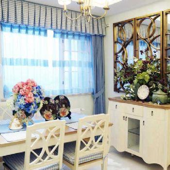 法式乡村三居室效果图欧式风格餐厅装修图片