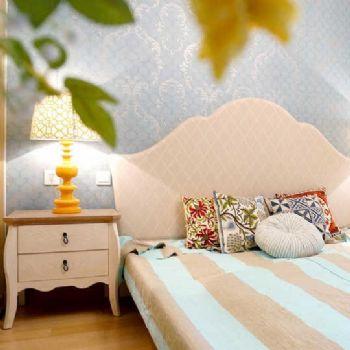 法式鄉村三居室效果圖歐式風格臥室裝修圖片