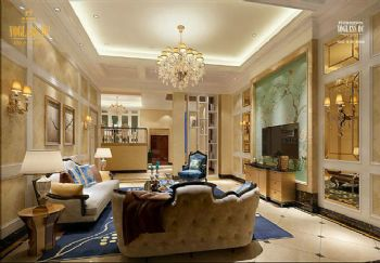 歐式古典別墅裝修設計圖歐式風格客廳裝修圖片