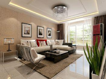 现代简约二居设计案例简约风格客厅装修图片