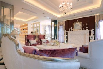 欧式古典别墅装修效果图欧式风格客厅装修图片
