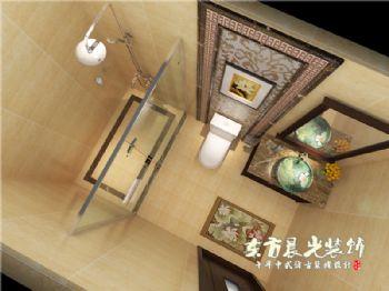四合院设计室内装修舒适而雅致中式风格卫生间装修图片