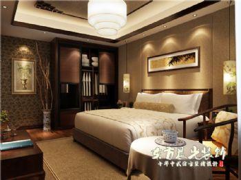 四合院設計室內裝修舒適而雅致中式風格臥室裝修圖片
