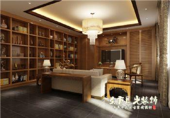 四合院设计室内装修舒适而雅致中式风格客厅装修图片