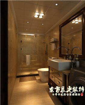 四合院設計室內裝修舒適而雅致中式風格衛生間裝修圖片
