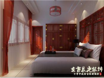 北京四合院别墅设计中式卧室装修图片