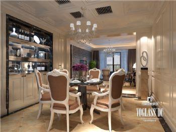 成都尚层装饰别墅装修|城南一号高端住宅现代简约风格案例现代风格餐厅装修图片