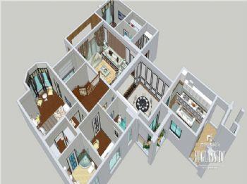 成都尚层装饰别墅装修|城南一号高端住宅现代简约风格案例现代风格阳台装修图片