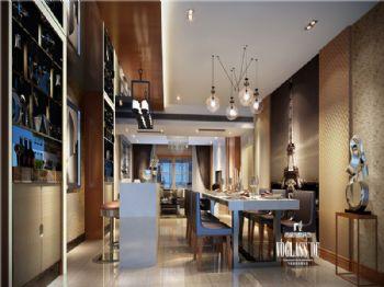 成都尚层装饰别墅装修|城南一号简约风格案例现代风格餐厅装修图片