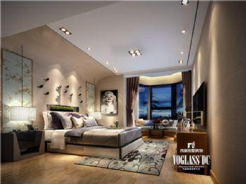 成都尚层装饰别墅装修|城南一号简约风格案例现代风格卧室装修图片
