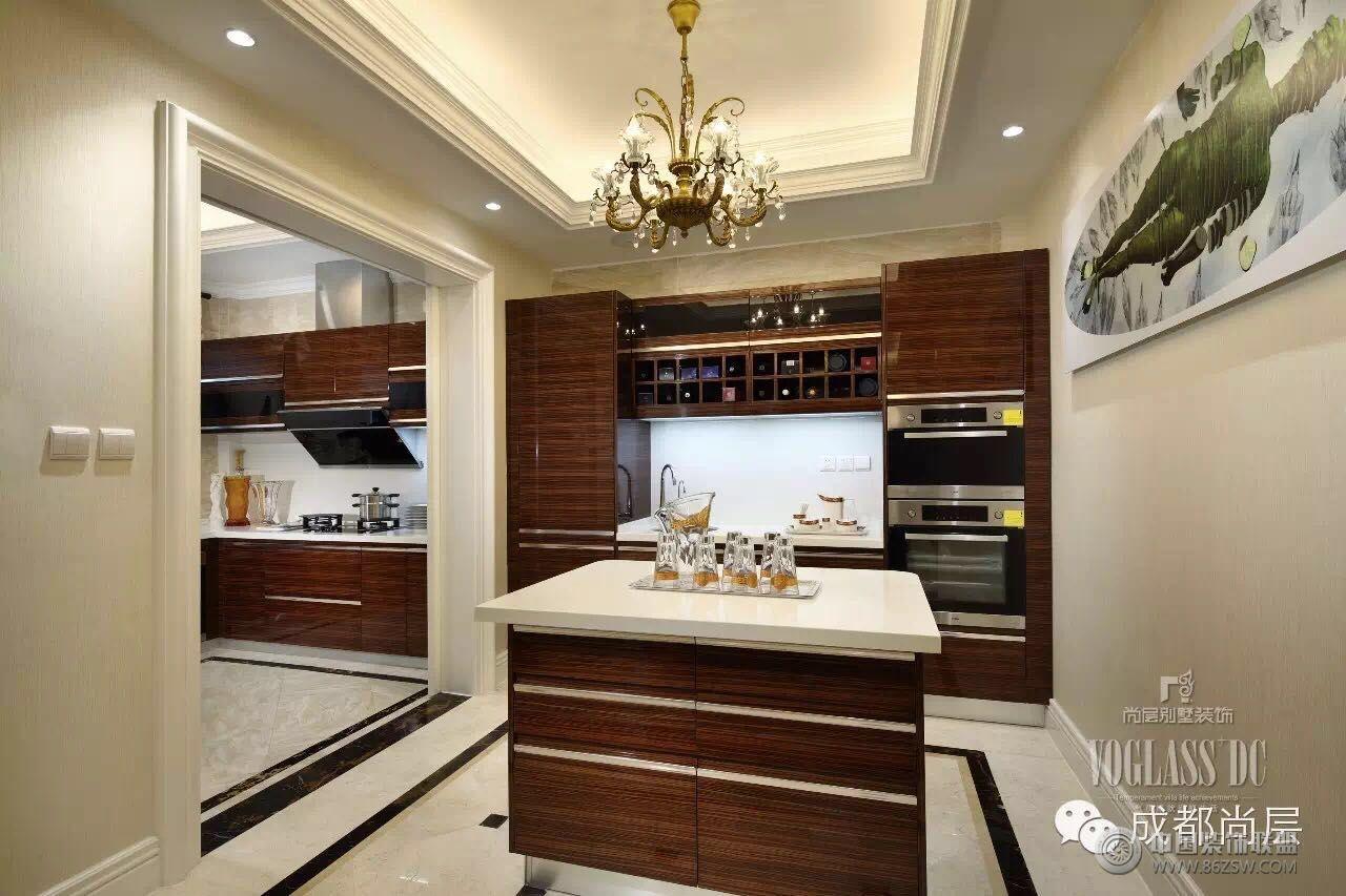 牧马山别墅新古典风格案例-厨房装修图片