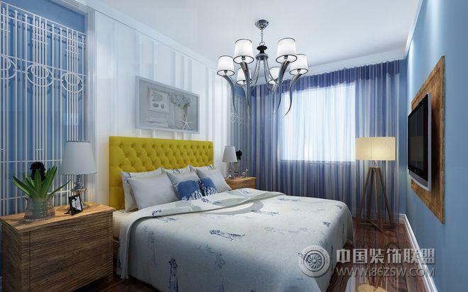 现代中户型设计案例-卧室装修效果图-八六(中国)装