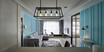 粉蓝色现代家居装修案例