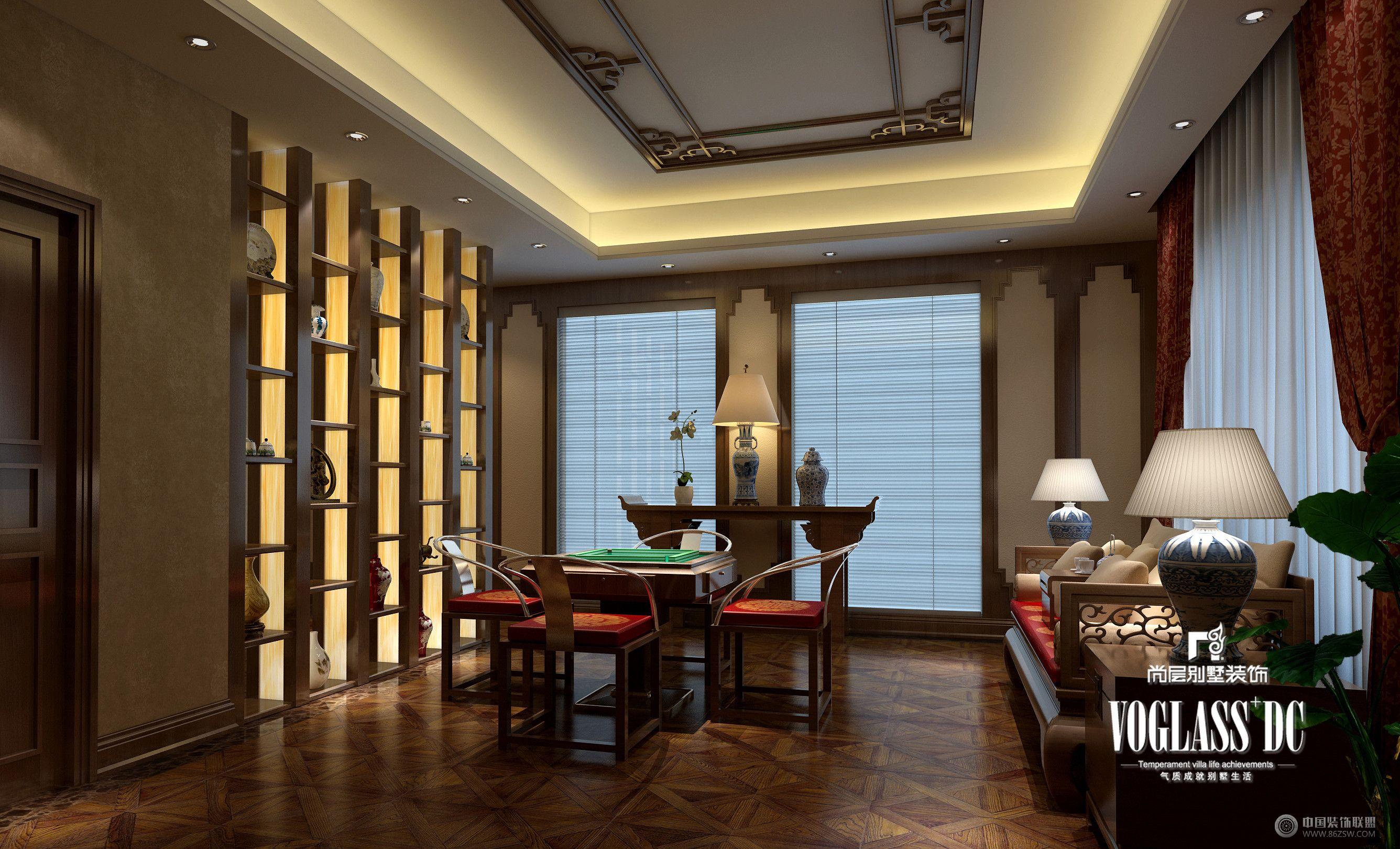 成都尚层装饰别墅装修||城南逸家中式风格-餐厅装修图片