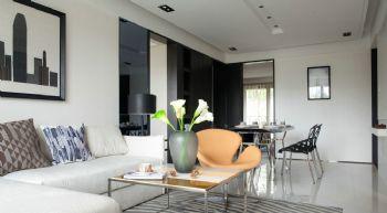 丽景山现代风格三居室