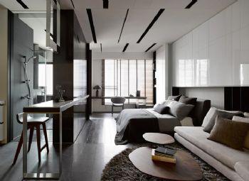 暗色调青年公寓装修案例