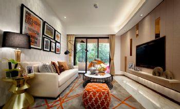 现代色彩二居装修效果图