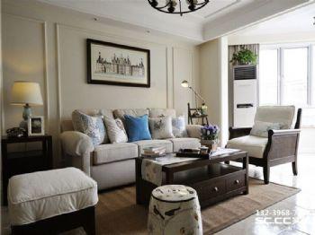 格林小镇130㎡美式之家实景案例美式风格三居室