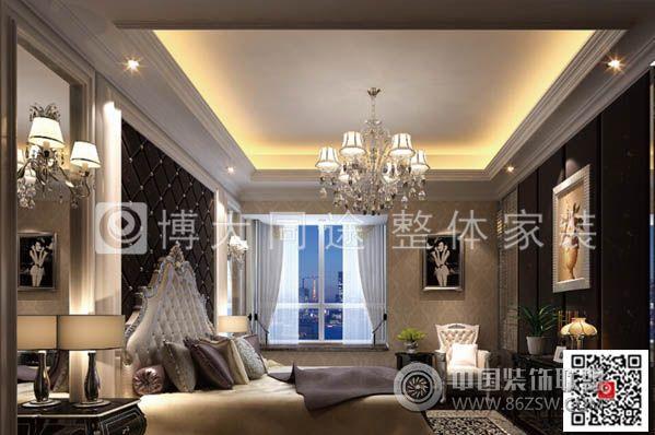 室一厅简欧风格装修效果图 【单张】  查看该卧室图片所在的案例套图